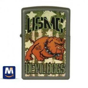 فندک زیپو سبک بولداگ شیطان - Devil Dawg-USMC Buldog