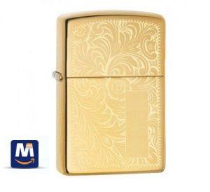 فندک زیپو سبک ونیزی براق - Zippo Lighter Venetian High Polish Brass