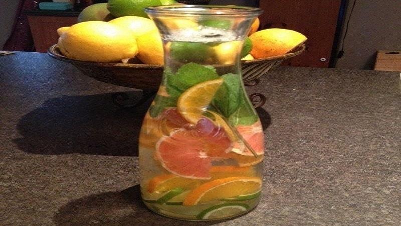 آب طعم دار گریپ فروت، پرتقال و لیمو