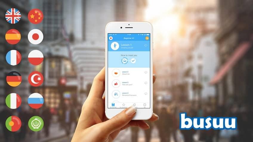 اپلیکیشن آموزش زبان busuu