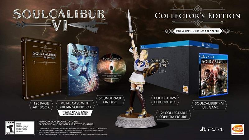 نسخه کالکتور ادیشن soulcalibur vi