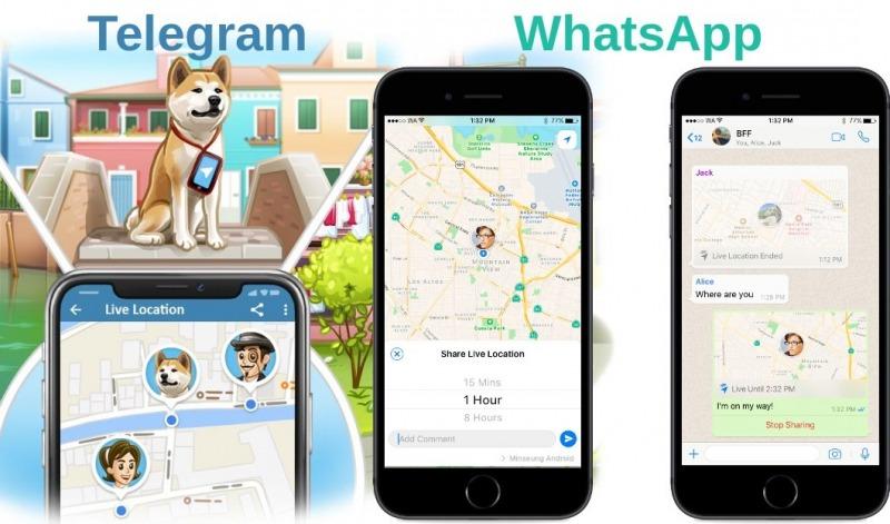 پیام رسان های تلگرام و واتساپ