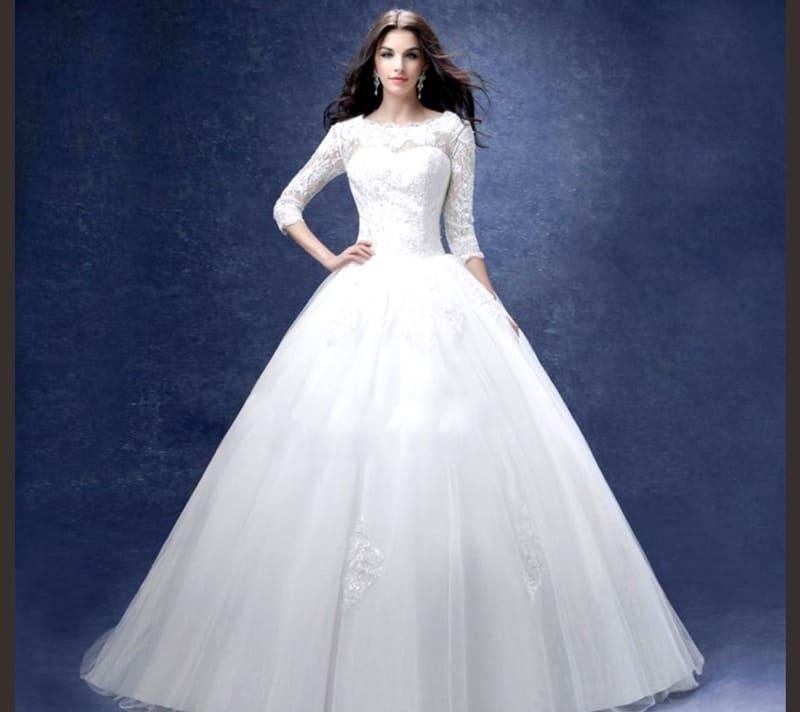 لباس عروس - لباس عروس پفی