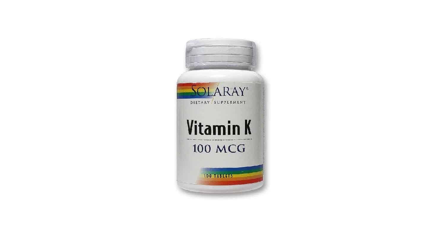 قرص ویتامین k برند Solaray