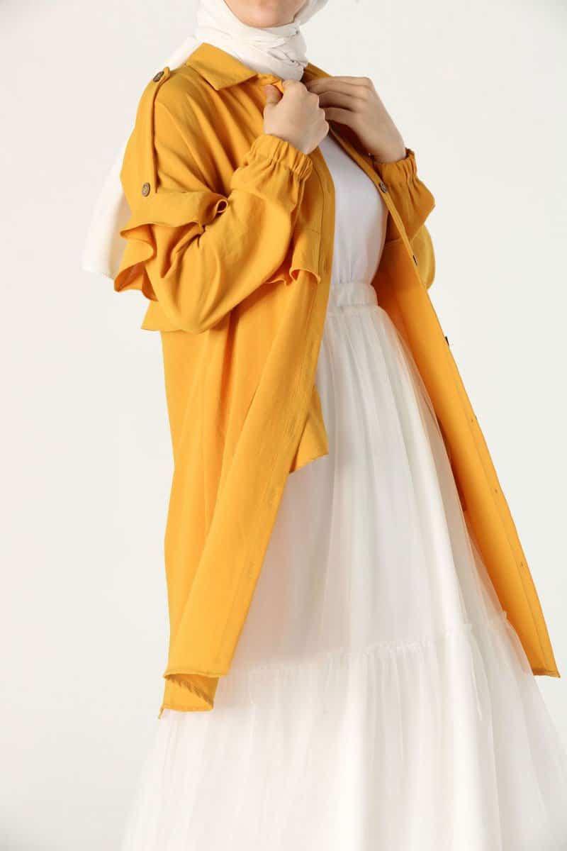 مدل مانتو - مانتو رنگ شاد