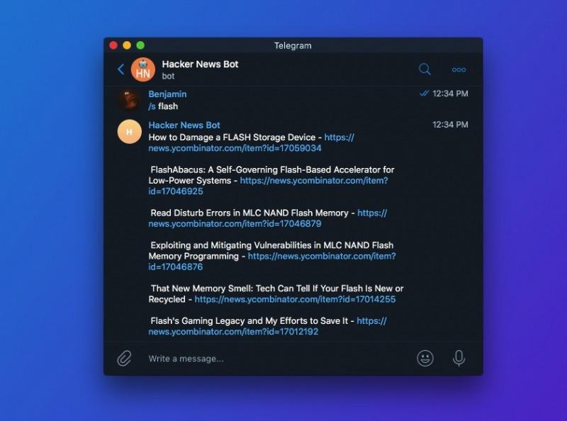ساخت ربات تلگرام هکرنیوز