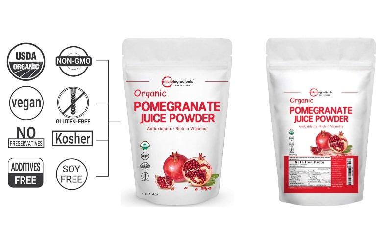 خواص انار - Organic Pomegranate Juice Powder