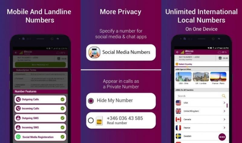 اپلیکیشن شماره مجازی Numero eSIM
