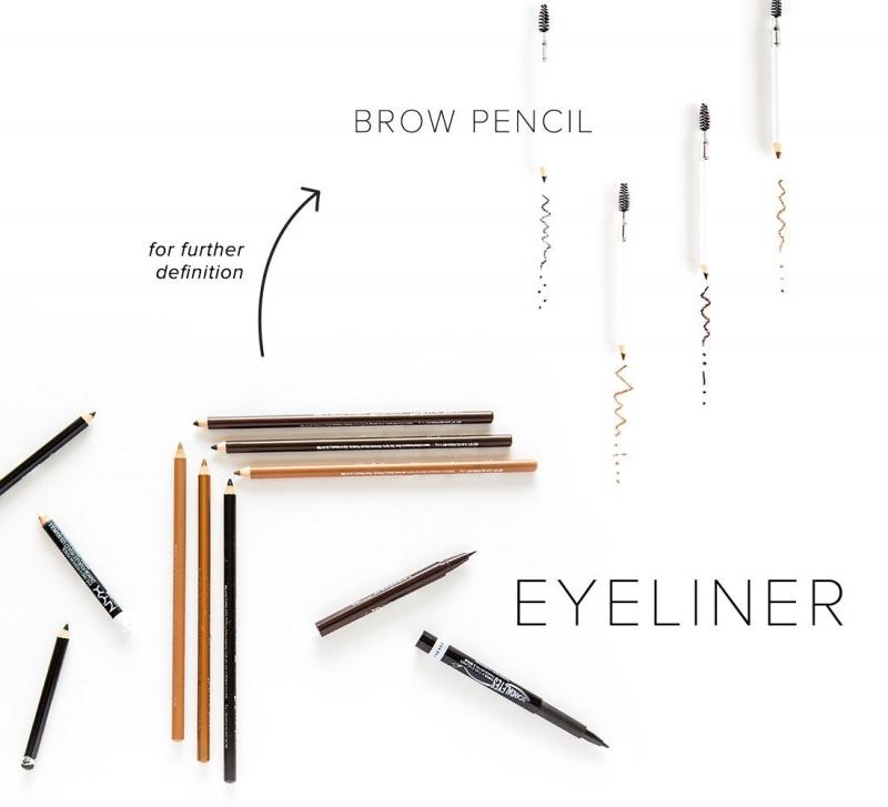 خط چشم و مداد ابرو در آرایش صورت