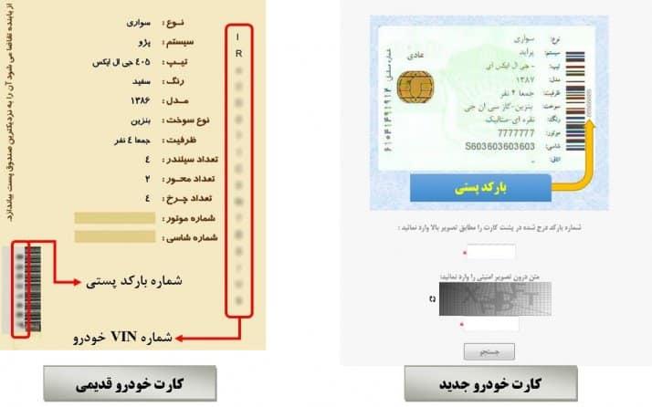 استعلام خلافی خودرو با بارکد پستی کارت خودرو