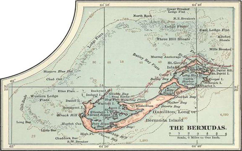 مثلث برمودا-جزیره برمودا