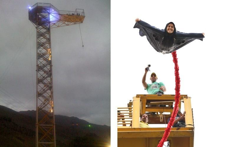 بام تهران - Bungee jumping