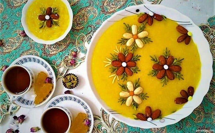 شله زرد غذا یا دسر؟