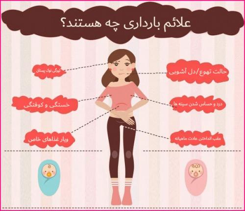 علایم بارداری