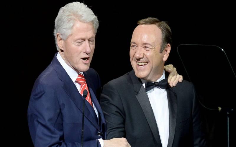 کوین اسپیسی و بیل کلینتون