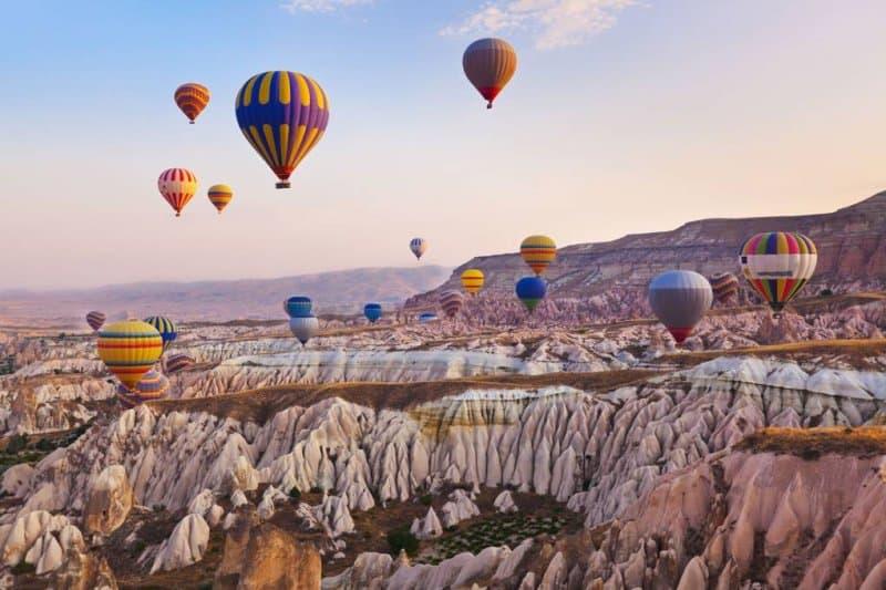 کاپادوکیا در ترکیه یکی دیگر از زیباترین مکان های جهان