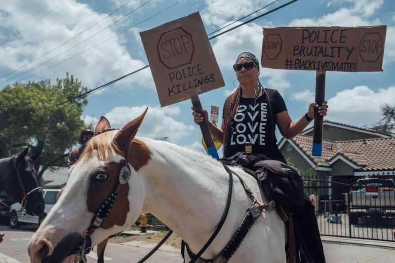 اعتراض به خشونت پلیس- اعتراض در آمریکا