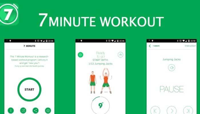 اپلیکیشن 7minute workout