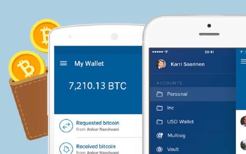 اپلیکشن کیف پول دیجیتال - coinbase