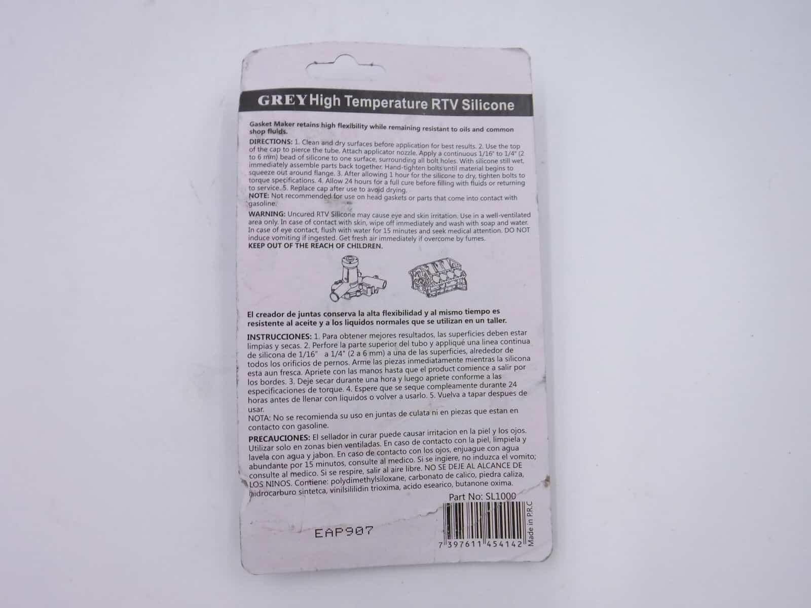 Evergreen High Temperature RTV Silicone Gasket Maker Grey SL1000 main-1 2