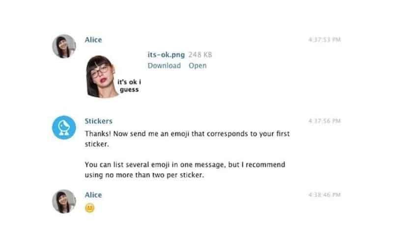 آپلود استیکر تلگرام