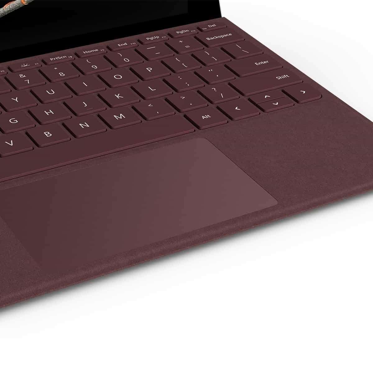 کیبورد تبلت مایکروسافت سرفیس مدل (Surface Go Alcantara Signature Type Cover (KCS-00041 - رنگ قرمز شرابی - جعبه باز main-1 2